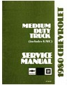 1980 CHEVROLET & GMC C/K 40-70 MEDIUM DUTY TRUCK Body, Chassis & Electrical Service Manual
