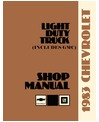 1983 CHEVROLET & GMC C/K 10-35 LIGHT DUTY, G & P SERIES Body, Chassis & Electrical Service Manual
