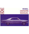 1968 AMC REBEL Owners Manual
