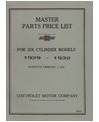 1929-32 CHEVROLET 6 CYLINDER Body & Chassis, Text & Illustration Parts Book