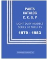 1979-83 CHEVROLET & GMC LIGHT DUTY TRUCK Body & Chassis, Text & Illustration Parts Book