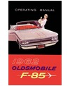 1962 OLDSMOBILE F-85 Owners Manual