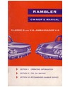 1961 AMC RAMBLER, AMBASSADOR & CLASSIC Owners Manual