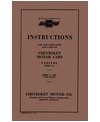 1927 CHEVROLET CAR & TRUCK Owners Manual